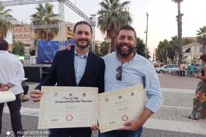 Mario Di Dato e Salvo Cravero premiati al Doc Italy come Ambasciatori del Gusto