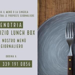 Enotria: consegne a domicilio e servizio Lunch Box