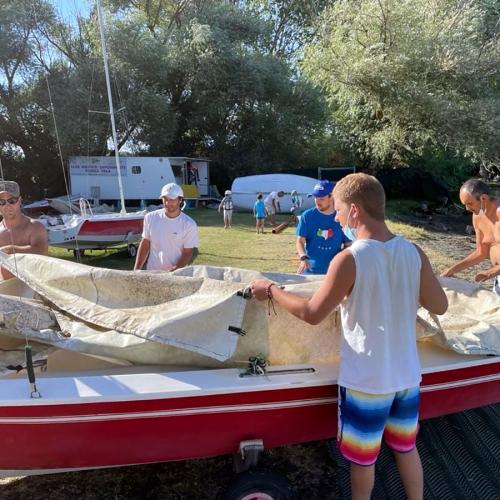 In barca a Vela sul lago di bolsena…